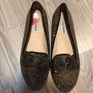 Steve Madden Bedazzled Flats with Bow Detail